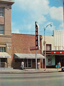 Andrews Cafe in the 1950's