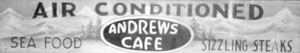 Andrews Cafe sign