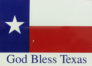 "Bob Bullock's trademark ""God Bless Texas"""