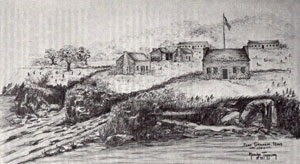 Artist's conception of Fort Graham