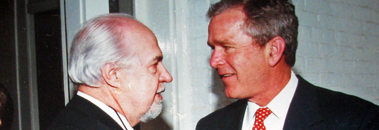 Jack-Loftis-and-President George W. Bush, 2001
