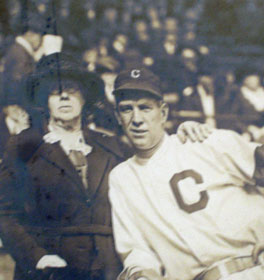 Tris Speaker and his mother, Jenny. After Cleveland won the World Series, October 4, 1920