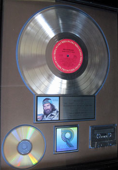 "Willie Nelson Platinum Album for ""Always on My Mind"""